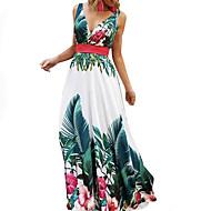 Pentru femei De Bază Linie A Rochie - Imprimeu, Floral Maxi