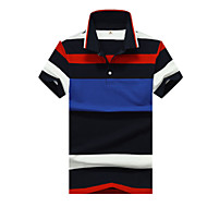 Муж. Polo Рубашечный воротник Контрастных цветов Красный XXL