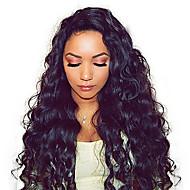 Remy kosa Netretirana  ljudske kose 100% rađeno rukom Full Lace Perika stil Brazilska kosa Wavy Valovita kosa Perika 180% Gustoća kose s dječjom kosom Gust Prirodna linija za kosu Afro-američka