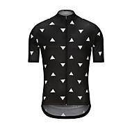 男性用 半袖 サイクリングジャージー - ブラック バイク ジャージー トップス スポーツ テリレン 衣類 / 高弾性