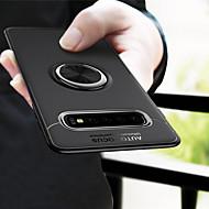 מגן עבור Samsung Galaxy גלקסי S10 / גלקסי S10 פלוס עמיד בזעזועים / מחזיק טבעת / מזוגג כיסוי אחורי אחיד רך TPU ל S9 / S9 Plus / S8 Plus
