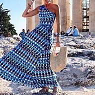 Žene A kroj Haljina - Print, Color block Maxi