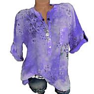 女性用 プラスサイズ Tシャツ 幾何学模様 ルビーレッド XXXL