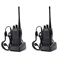 billige -2 stk baofeng bf-888s oppladbar lang rekkevidde 5w toveis radio walkie talkies 16 kanals håndholdt radio innebygd led fakkel + headset håndholdt bærbar uhf400-470mhz