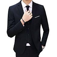 男性用 スーツ ノッチドラペル ポリエステル ネイビーブルー / グレー / ライトブルー XXXXL / XXXXXL / XXXXXXL