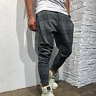 Hombre Deportivo Chinos / Pantalones de Deporte Pantalones - Estampado Gris