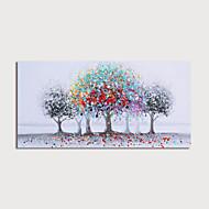 olcso -Hang festett olajfestmény Kézzel festett - Absztrakt Landscape Modern Tartalmazza belső keret / Nyújtott vászon
