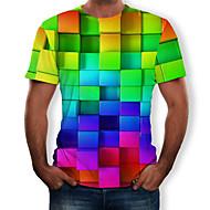 זול -3D / קשת צווארון עגול טישרט - בגדי ריקוד גברים דפוס קשת XL