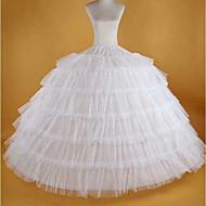 신부 1950년대 코스츔 클래식 / 전통적 롤리타 여성용 속치마 어뢰 방어망 화이트 빈티지 코스프레 스판덱스 파티 성능 맥시 공주