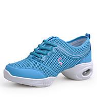 Dámské Taneční tenisky Síťka Tenisky Barevně dělené Rovná podrážka Obyčejné Taneční boty Modrá