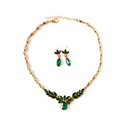 Women's Jewelry Set Drop Trendy, Elegant Include Bridal Jewelry Sets Green For Wedding Party
