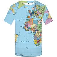 Homens Camiseta Estampado, 3D Arco-íris XXXL