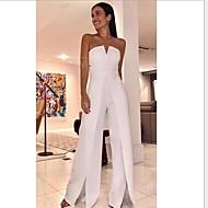 Damen Weiß Overall, Solide M L XL