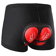 baratos -Arsuxeo Homens Cueca Boxer Acolchoada Moto Shorts Acolchoados Tapete 3D Esportes Poliéster Elastano Vermelho / Verde Roupa Roupa de Ciclismo / Com Stretch