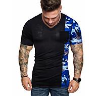 T-shirt Per uomo Essenziale Collage / Con stampe, Monocolore / Camouflage Bianco L