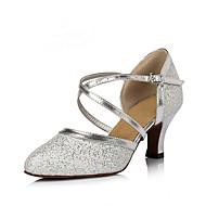 Dame Dansesko Syntetisk Moderne sko Høye hæler Kubansk hæl Kan spesialtilpasses Sølv / Trening / Ytelse