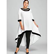 billiga -Dam Plusstorlekar Mantel Klänning - Enfärgad Maxi