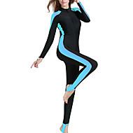 billige -SBART Dame Tettsittende dykkerdrakt 2mm Dykkerdrakter SPF50 UV Solbeskyttelse Fort Tørring Langermet Forside Glidelås - Svømming Dykking Surfing Lapper