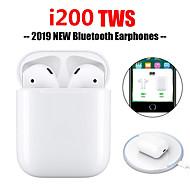 billige -originale i200 tws ekte trådløse ørepropper trådløs qi lading bluetooth 5.0 6d bass øretelefon dukker opp vindu med ios auto paring berøringskontroll funksjon