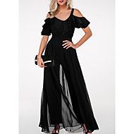 Women's Basic Black Jumpsuit, Solid Colored M L XL
