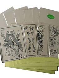 billige -10 x tatovering pratice skinn og 10 x transfer papir