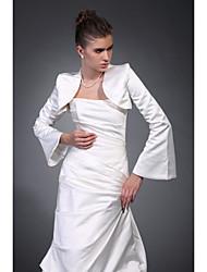 billige -Halvlange ærmer Polyester Fest / aften Wraps til damer Bryllup Wraps With Broderi Frakke / jakke