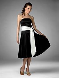 economico -camicie da sera in raso / abiti da sera da donna con bordino in strass