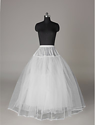 cheap -Wedding Special Occasion Slips Nylon Tulle Floor-length A-Line Slip Ball Gown Slip with