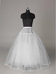 billiga -Bröllop / Speciellt Tillfälle Underklänningar Nylon / Tyll Golvlång A-linjeformad Underkjol / klänning / Balklänning Underkjol med
