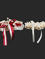 cheap -Satin Fashion Wedding Garter with Ribbon Tie Garters