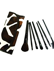 cheap -7pcs Makeup Brushes set Brown Cow Powder/Foundation/Concealer/Blush/Shadow/Eyeliner/Lip/Brow/Lashes Cosmetic Bag