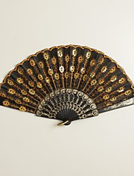 cheap -Black Peacock Design Hand Fan Wedding Favors Classic Them Chic & Modern