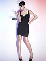 Sheath / Column Sweetheart Straps Short / Mini Chiffon Holiday Dress with Beading by TS Couture®