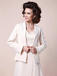 cheap -Satin Wedding Party Evening Women's Wrap With Beading Coats / Jackets