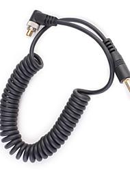3,5 mm-Stecker FLASH PC Sync-Kabel Kabel mit Schraubverschluss (1m)