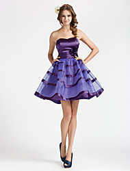 A-Line Strapless Sweetheart Short / Mini Organza Party Dress by TS Couture®