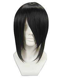 cheap -Cosplay Wigs Black Butler Sebastian Michaelis Anime Cosplay Wigs 35 CM Heat Resistant Fiber Men's