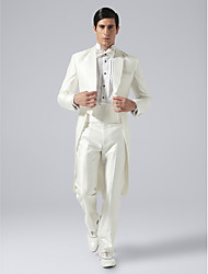 Tuxedos Tailored Fit Notch Double Breasted Two-buttons Wool & Polyester Blended Solid