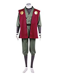 cheap -Inspired by Naruto Jiraiya Anime Cosplay Costumes Cosplay Suits Kimono Patchwork Long Sleeves Vest Pants Belt Leg Warmers Kimono Coat