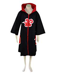 abordables -Inspirado por Naruto Sarutobi Sasuke Animé Disfraces de cosplay Trajes Cosplay Bloques Manga Larga Capa Para Hombre
