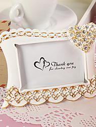 posto titolare carte e supporti foto elegante cornice / scheda con cuore splendente