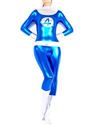 cheap -Shiny Zentai Suits Ninja Zentai Cosplay Costumes Print / Patchwork Leotard / Onesie / Zentai / Catsuit Spandex Women's Halloween / High Elasticity