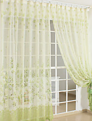 AnTi™ Two Panels  Country Green Print Sheer Curtains Drapes