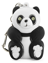 cheap -Panda Keychain with LED Flashlight and Sound Effects (Black)