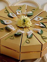 abordables -Rond / Carré Papier nacre Titulaire de Faveur avec Fleur Boîtes à cadeaux