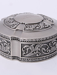 cheap -Personalized Vintage Tutania Round Jewelry Box Classical Feminine Style