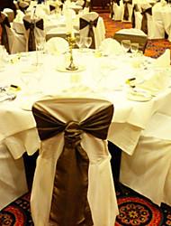 "Wedding Décor 7.8"" Chic Satin Chair Ribbon Sash – Set of 6 (More Colors)"