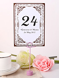 cheap -Personalized Table Number Card - Vintage