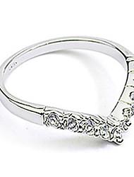 baratos -Mulheres Anel de banda - Cristal, Imitações de Diamante, Liga Coração, Amor Pedras dos signos Jóias Prata / Dourado Para 9 / 8½ / 9½