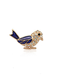 cheap -Korean Fashion  Drill Oil Drip Bird Alloy Brooch